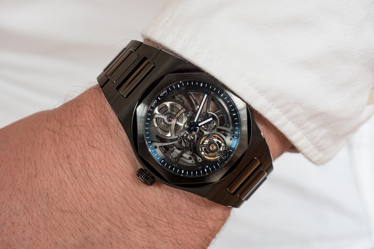 Girard-Perregaux Laureato Skeleton Ceramic US Edition wrist shot
