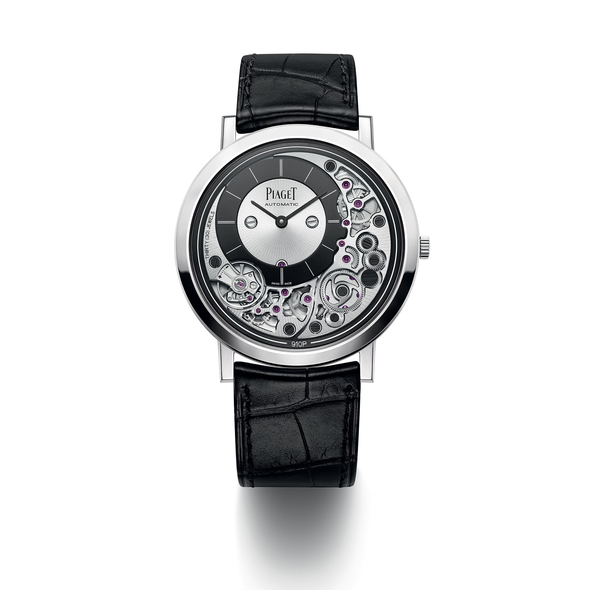 <p>The Piaget Altiplano Ultimate 910P in white gold. </p>