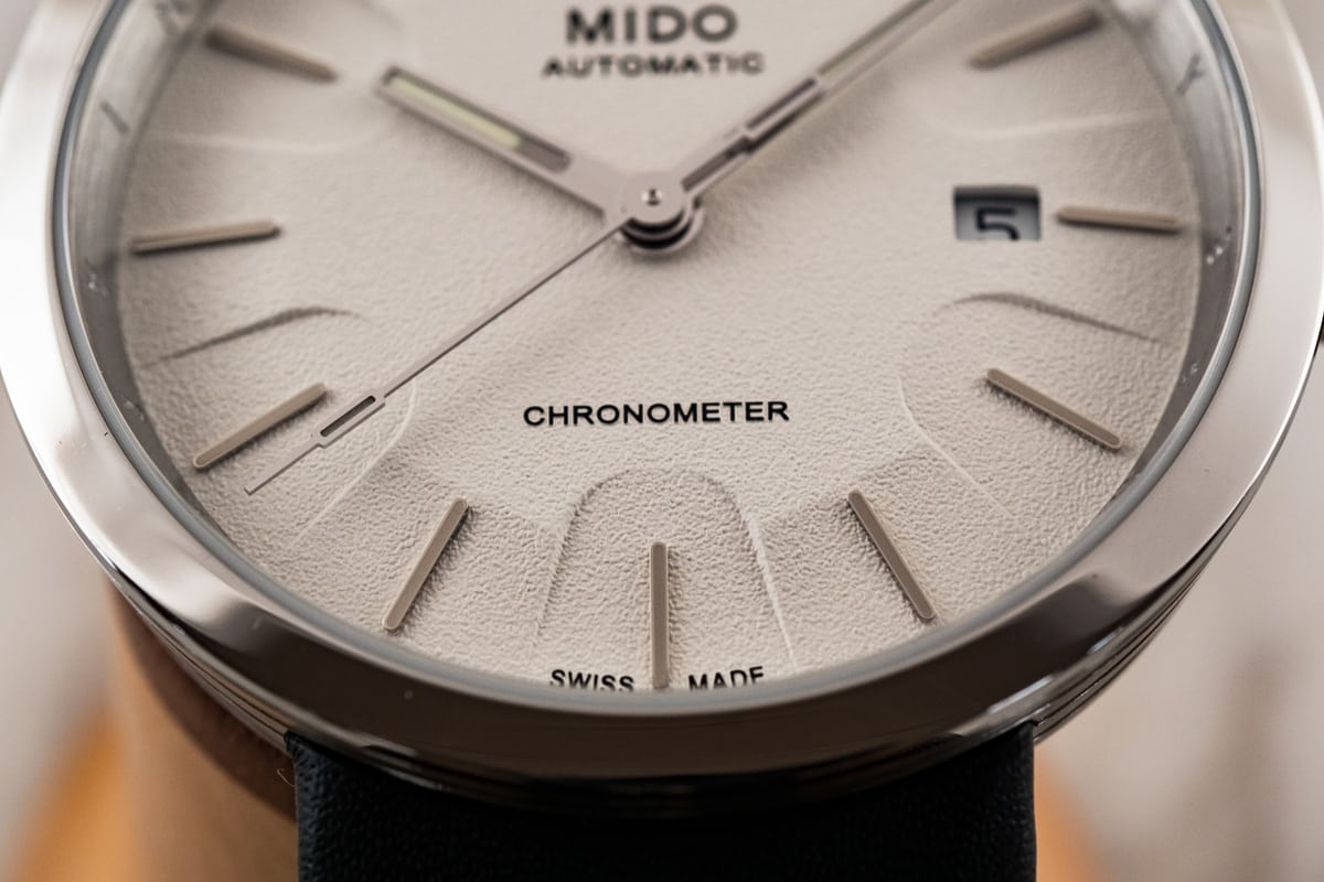 Mido Inspired By Architecture Limited Edition dial closeup