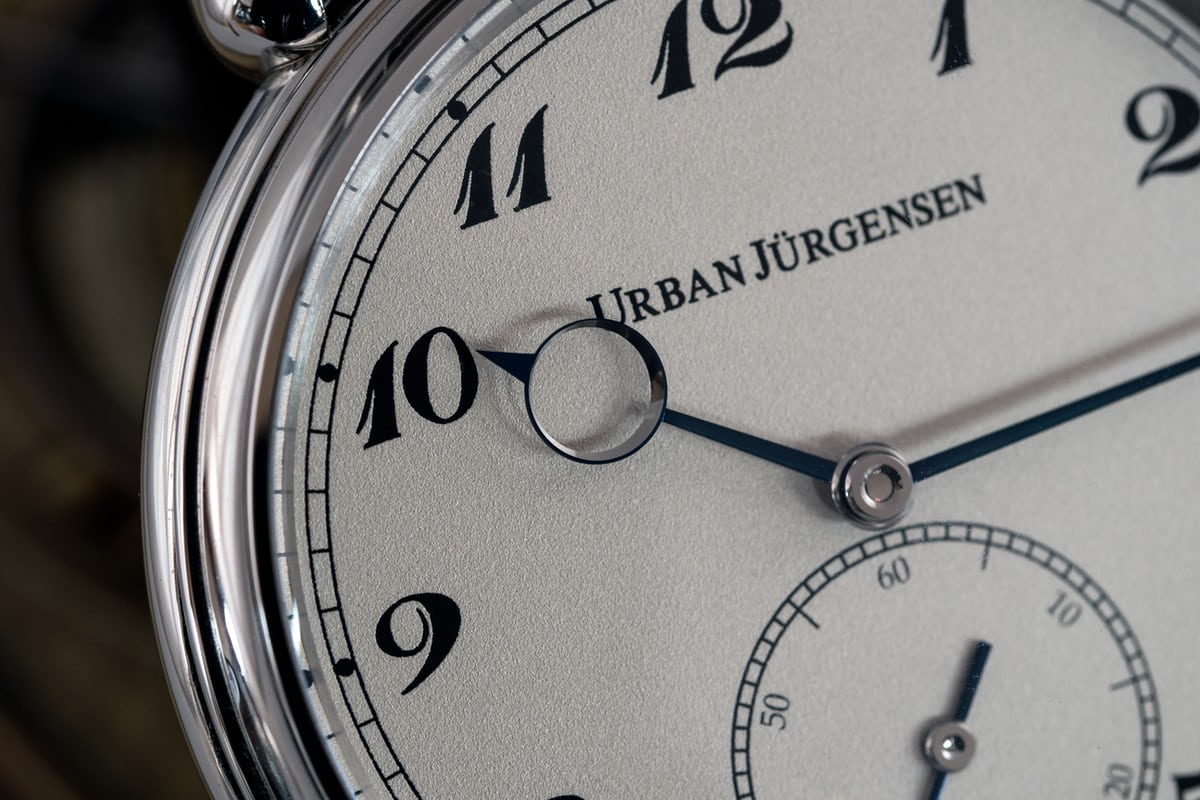 Urban Jürgensen The Alfred dial and numerals closeup