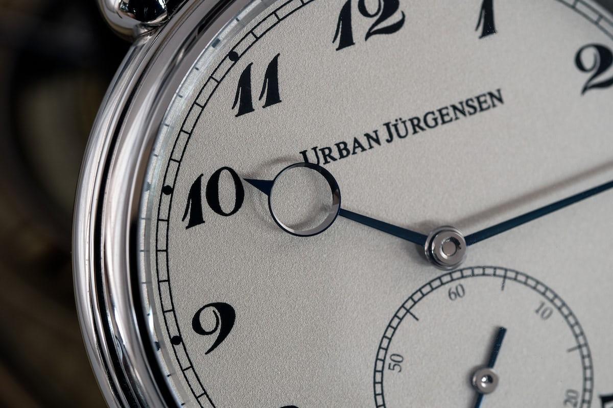 Urban Jürgensen The Alfred dial and numerals closeup