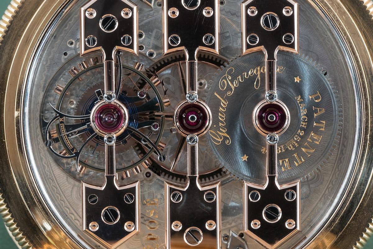 1889 Observatory Tourbillon Girard Perregaux No. 168232 train wheel pivots