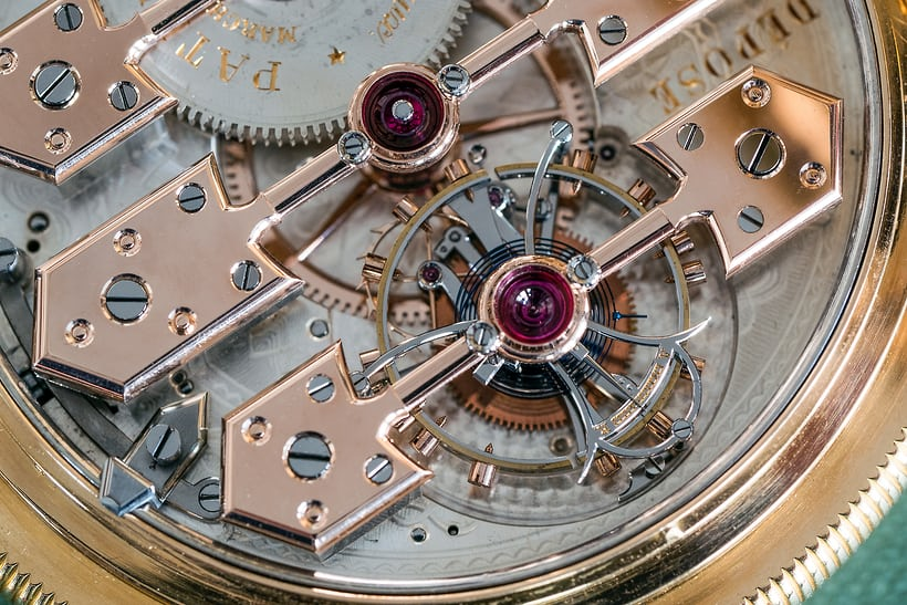 1889 Observatory Tourbillon Girard Perregaux No. 168232 compensation balance, escape wheel and carriage