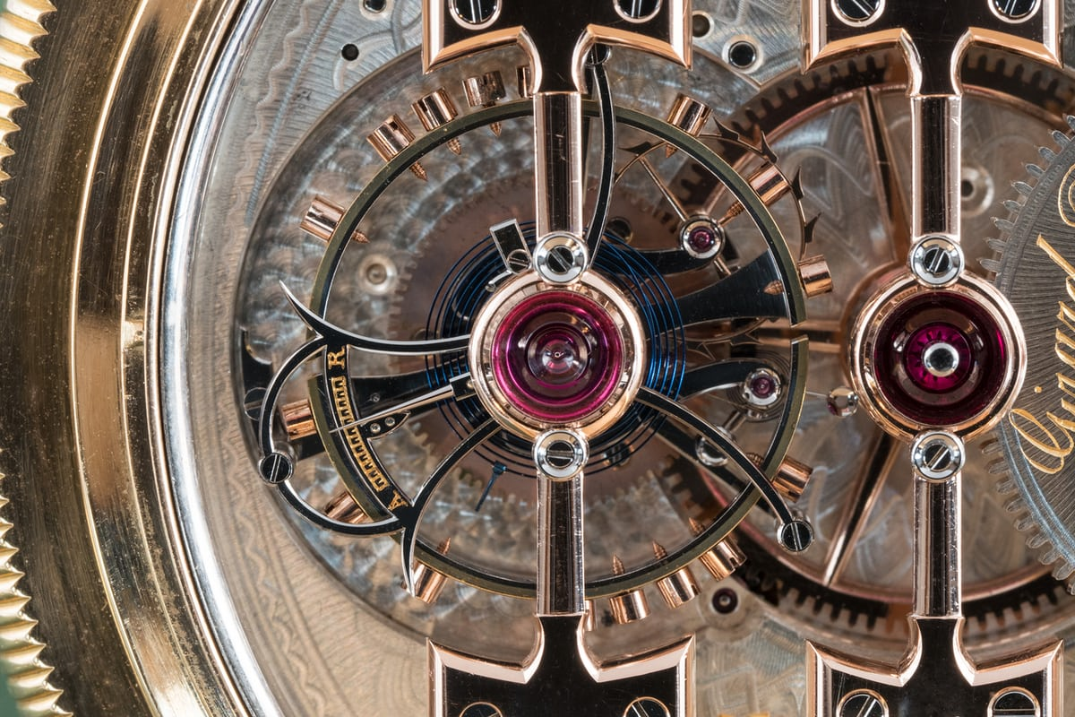 1889 Observatory Tourbillon Girard Perregaux No. 168232 tourbillon closeup
