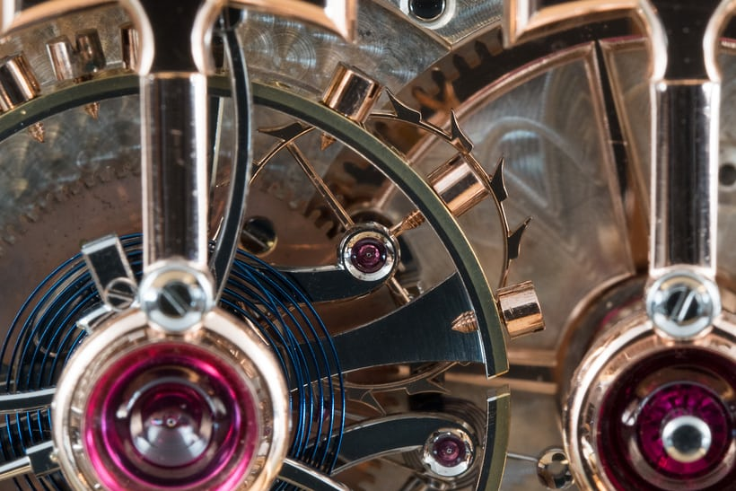 1889 Observatory Tourbillon Girard Perregaux No. 168232 gold escape wheel