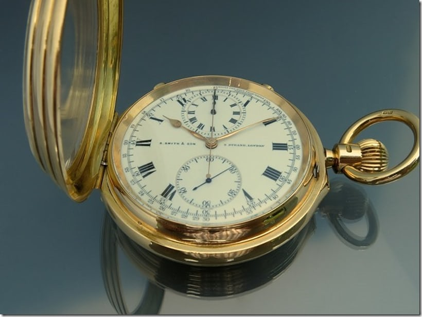 An English pocket watch, with Robert Benson North's patented tourbillon.