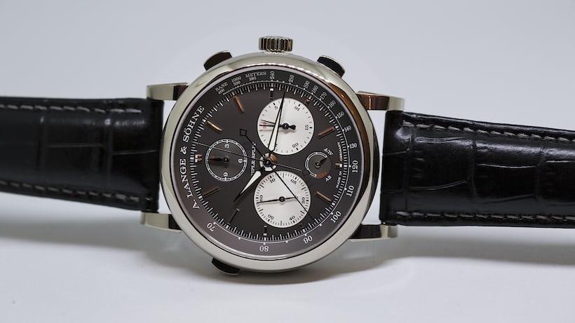A. Lange & Söhne Triple Split dial side