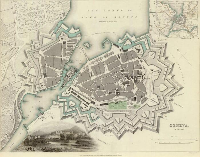 Geneva map 1841