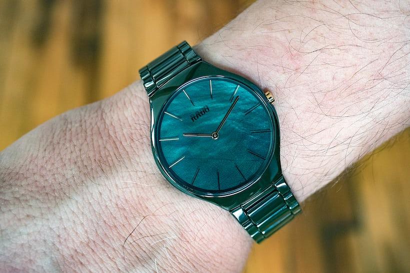 Rado True Thinline Leaf wrist shot