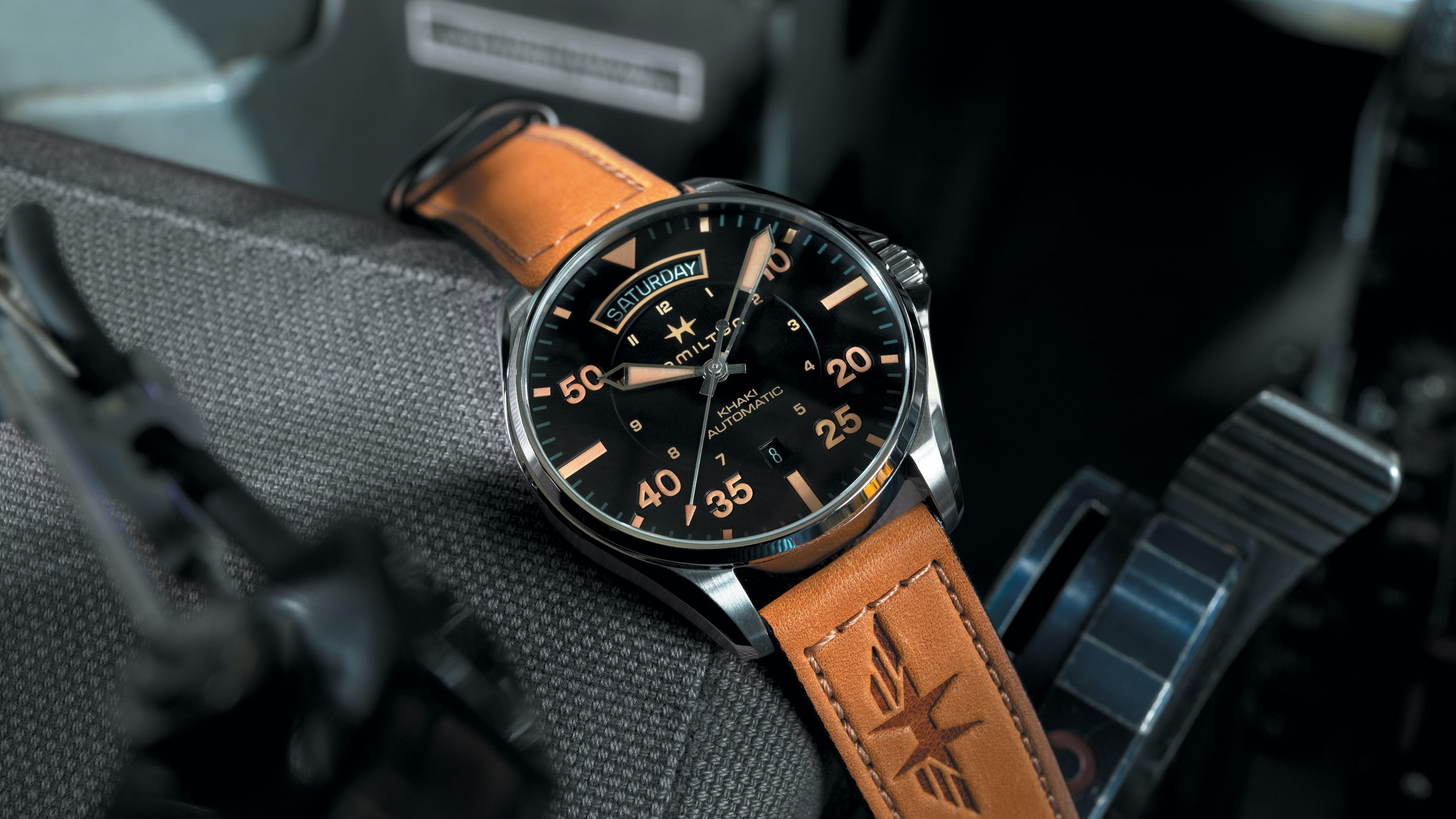 Introducing  The Hamilton Khaki Pilot Auto Day Date - HODINKEE 34f238a7e6e4