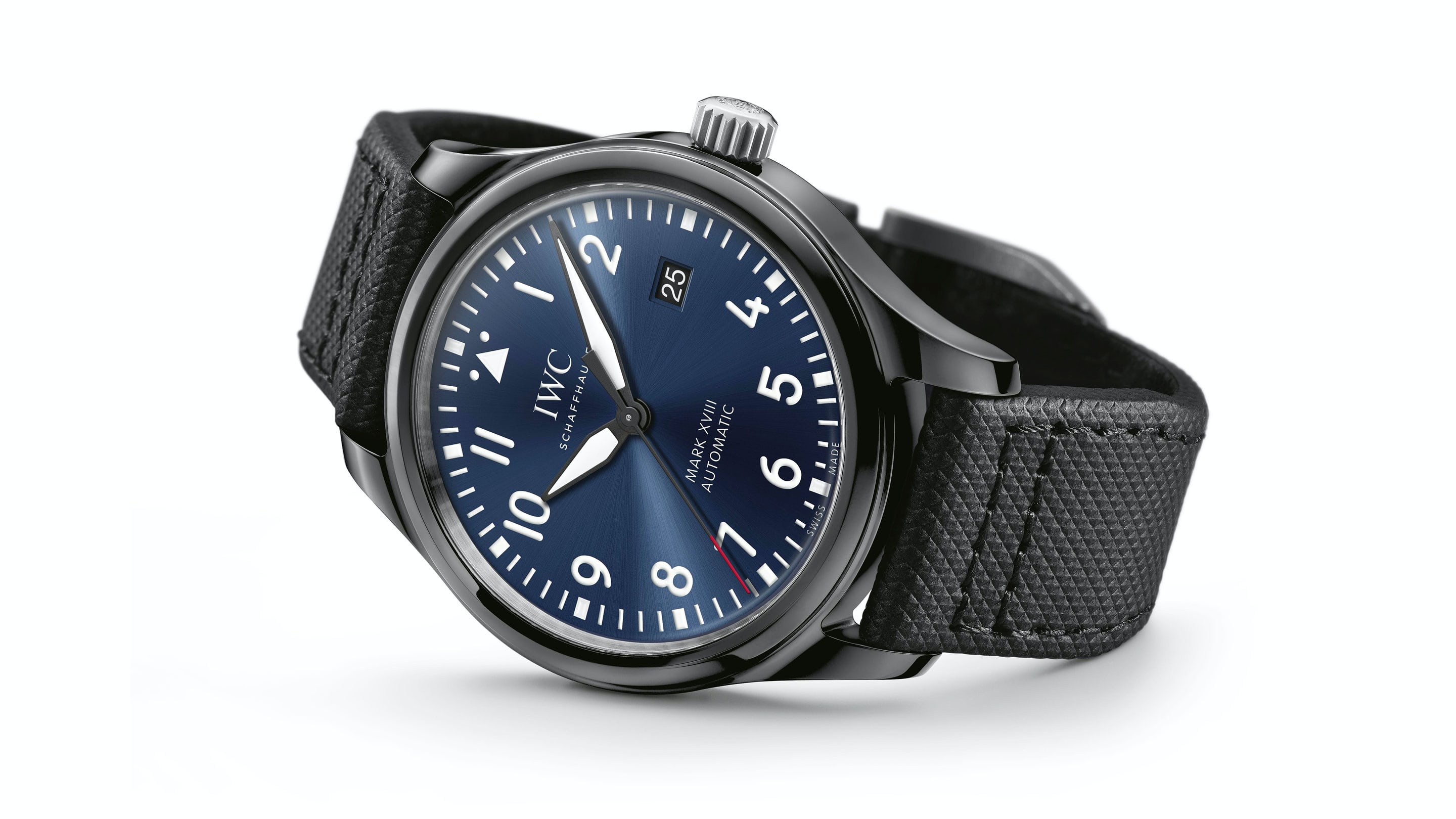 hr circuito en watch canvas blue gun watches