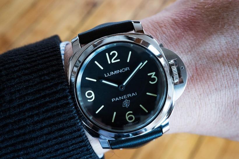 hands on the panerai luminor base logo 3 days hodinkee