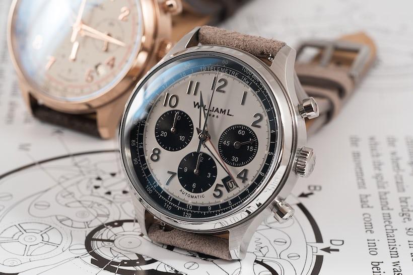 william l. 1985 panda dial chronograph