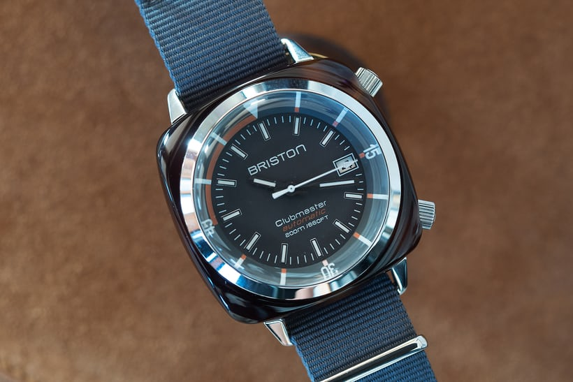 Briston Clubmaster Diver acetate case