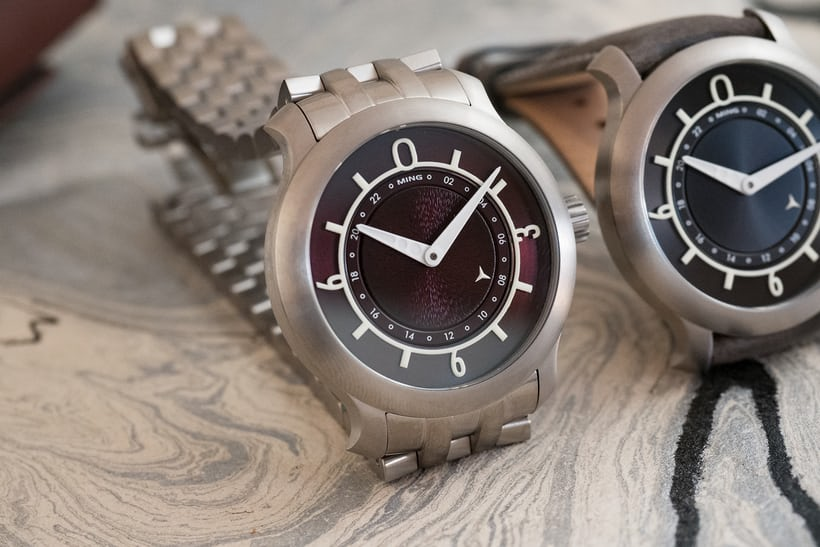 Ming 17.03 GMT burgundy dial