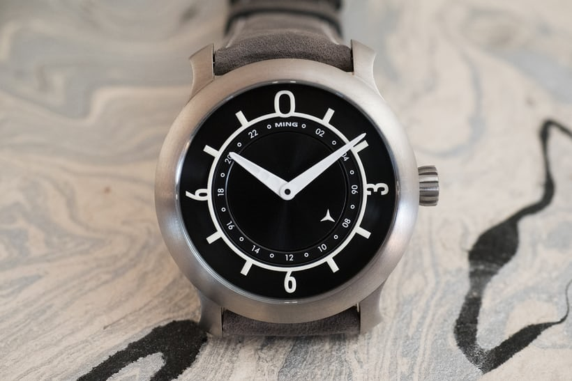 Ming 17.03 GMT black dial