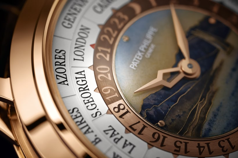Patek 5513R dial closeup vineyards