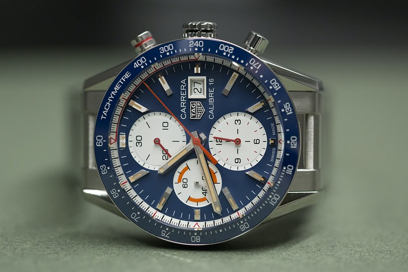 a34e255eaa3 ... the Carrera Calibre 16 Chronograph is an eminently wearable nod to TAG  Heuers legacy of automotive-themed watch design. Here we take a closer look  at ...