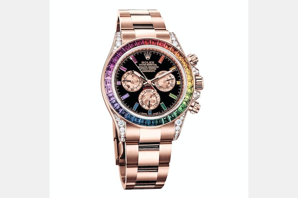046e61b3e Introducing: The Rolex Rainbow Daytona In Everose Gold Ref. 116595 ...