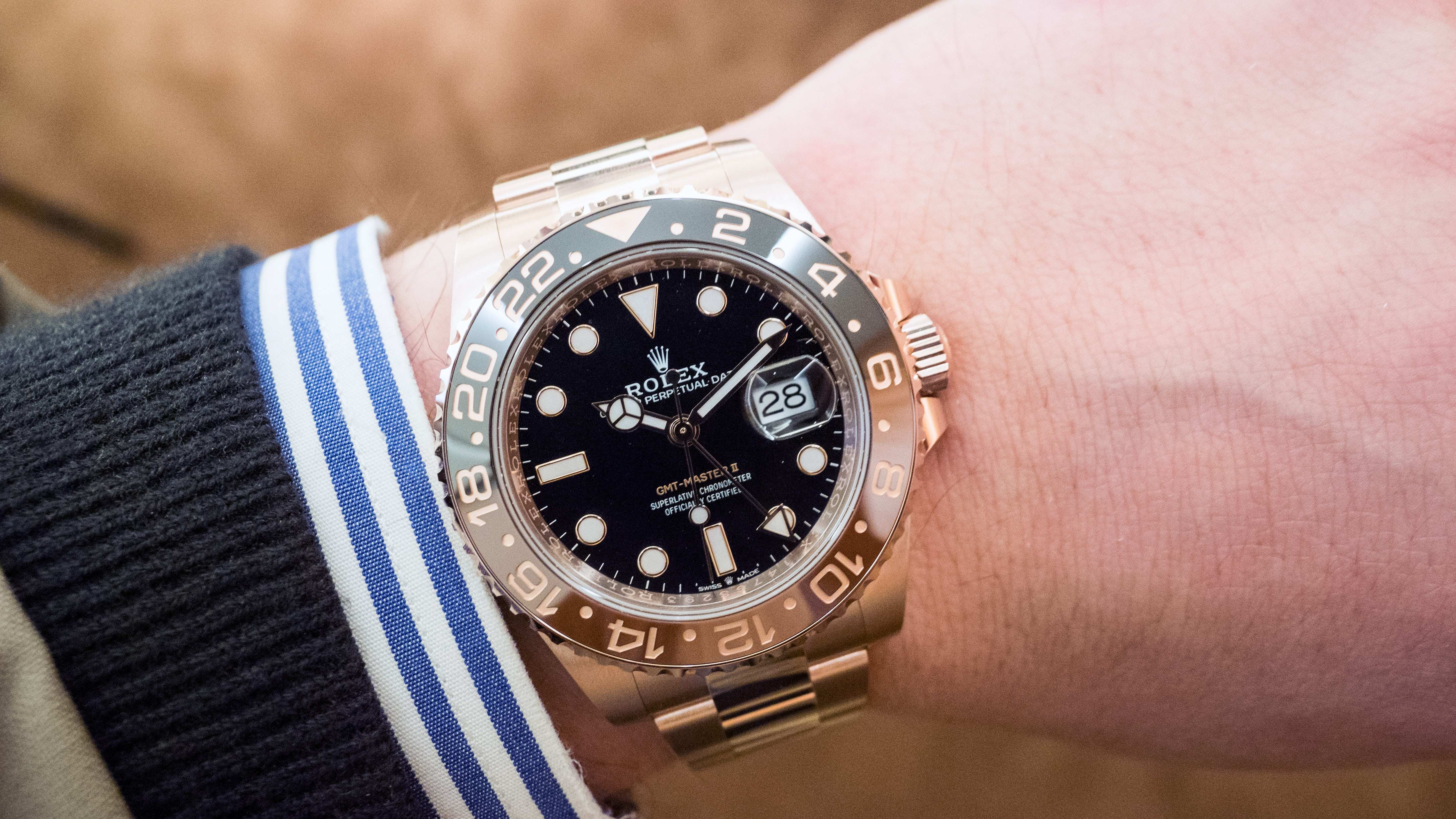 Hands On The Rolex Gmt Master Ii In Everose Gold Hodinkee
