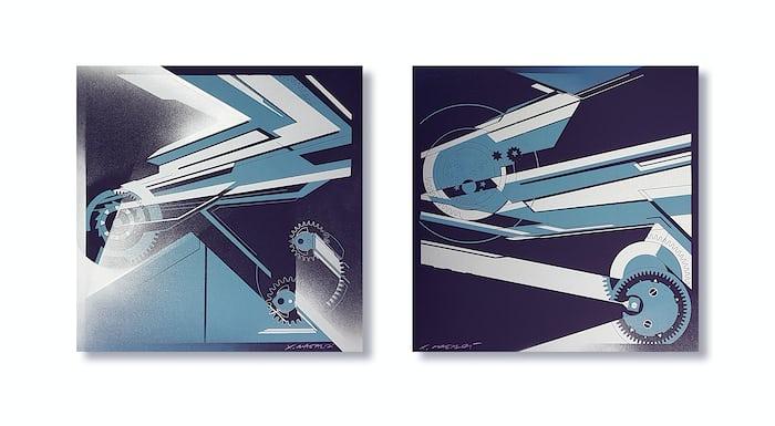 Chronos and Quantième Perpétuel, artwork by Xavier Magaldi