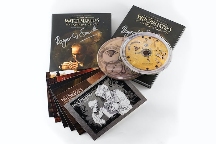 The Watchmaker's Apprentice DVD, signed and donated by Roger W. Smith