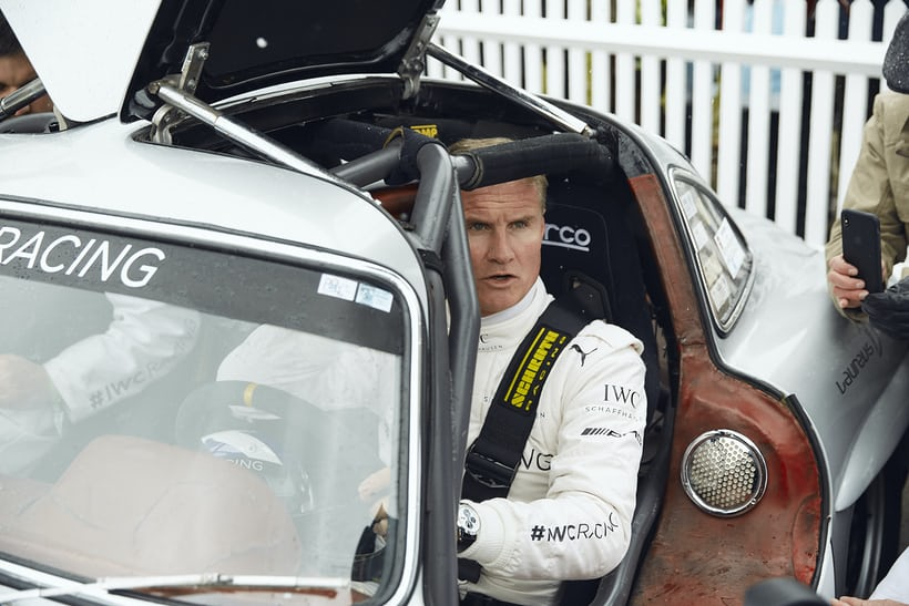 David Coulthard in the Gullwing 300 SL for IWC Racing
