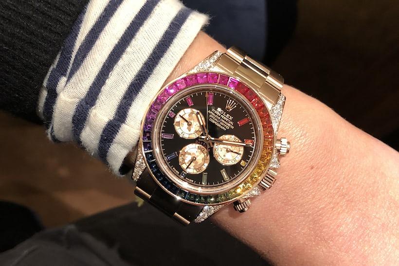 Hands On The Rolex Rainbow Daytona In Everose Gold Hodinkee