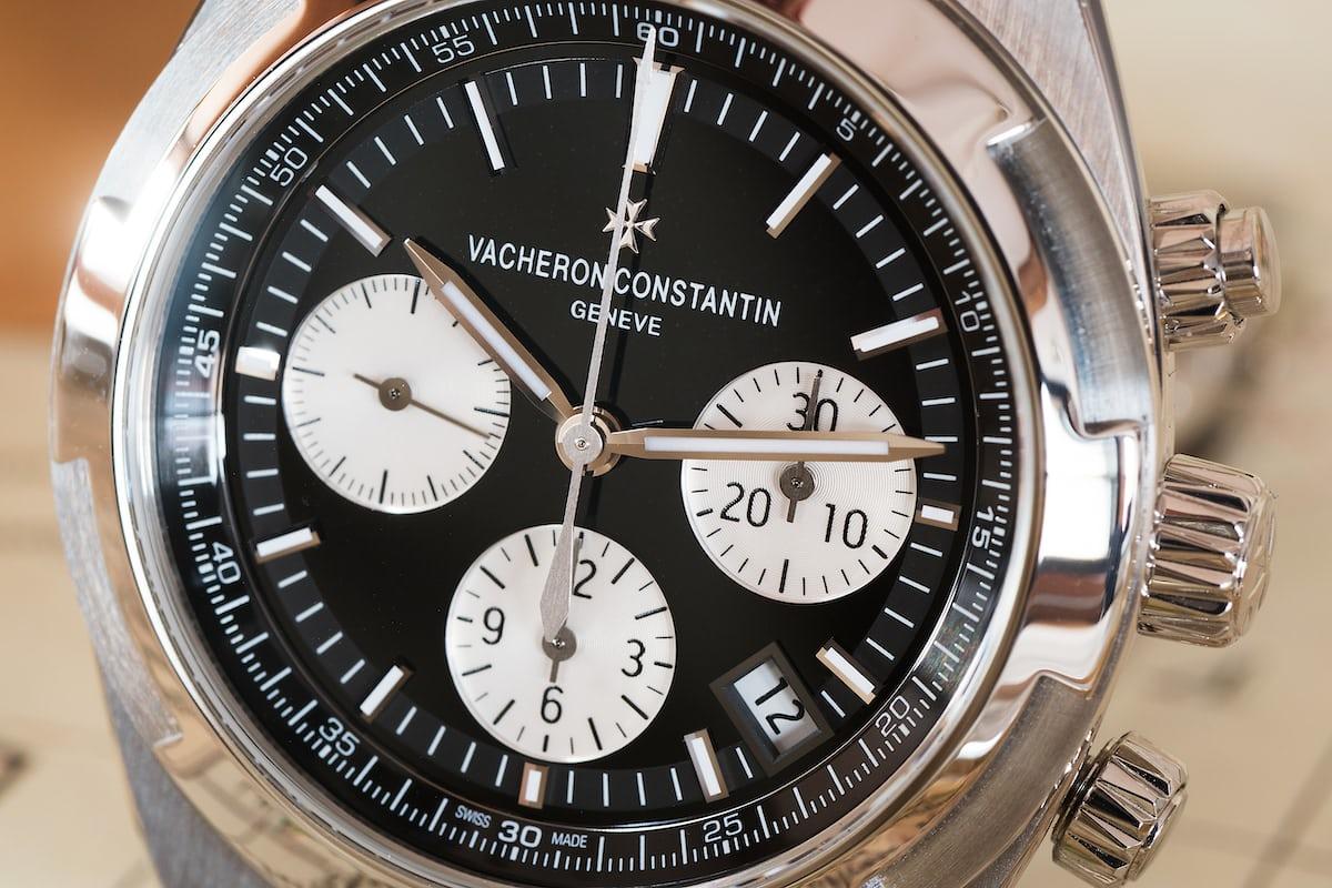 Vacheron Constantin Overseas Chronograph Panda Dial oblique dial shot