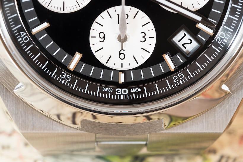 Vacheron Constantin Overseas Chronograph Panda Dial lower dial closeup