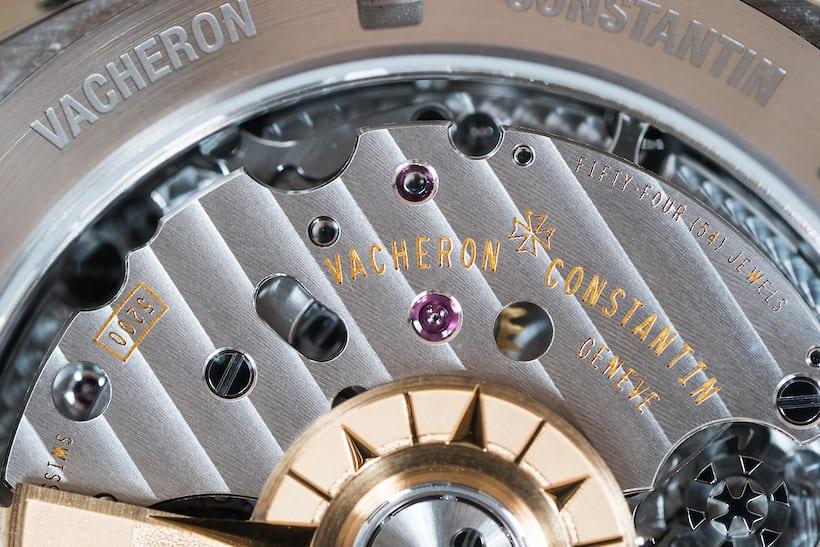 Vacheron Constantin Overseas Chronograph Panda Dial upper chronograph bridge
