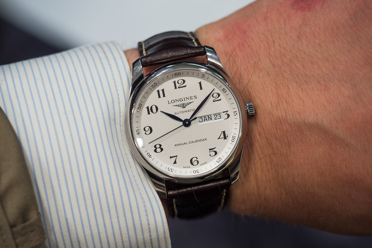 Longines Master Collection Annual Calendar wrist shot