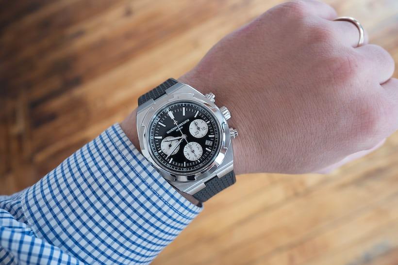 Vacheron Constantin Overseas Chronograph Panda Dial wrist shot
