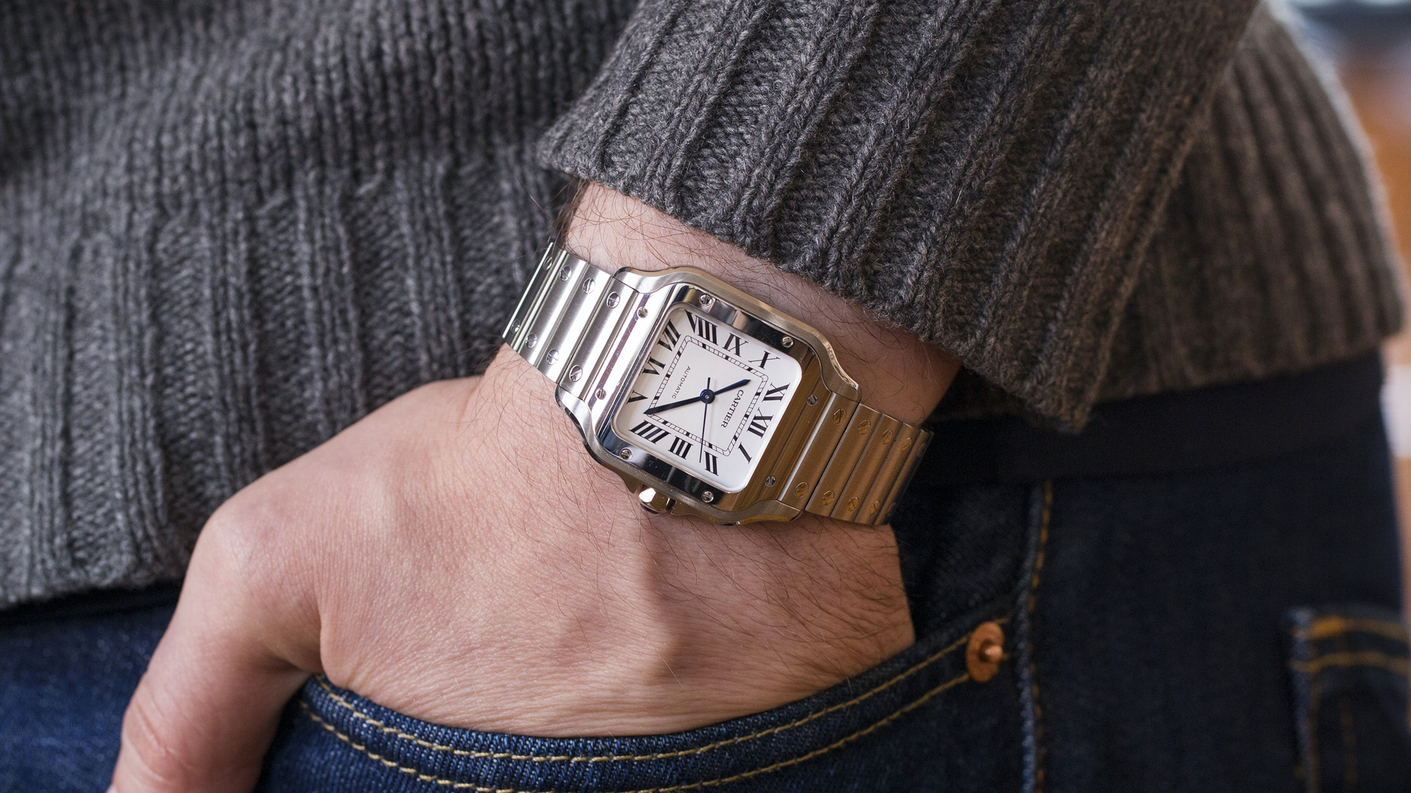 A Week On The Wrist: The Cartier Santos B89A0072 copy 2