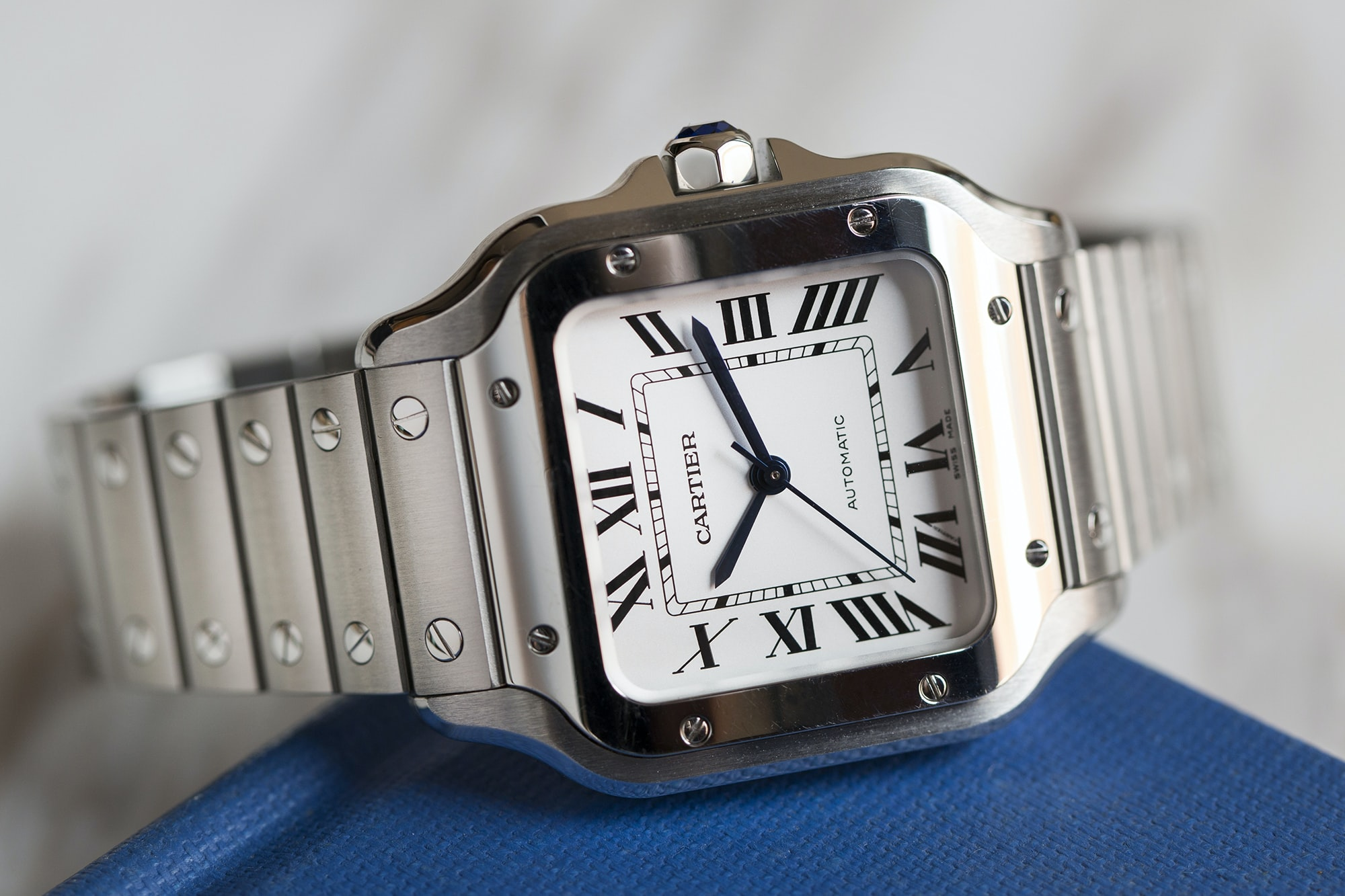 A Week On The Wrist: The Cartier Santos B89A0144 copy
