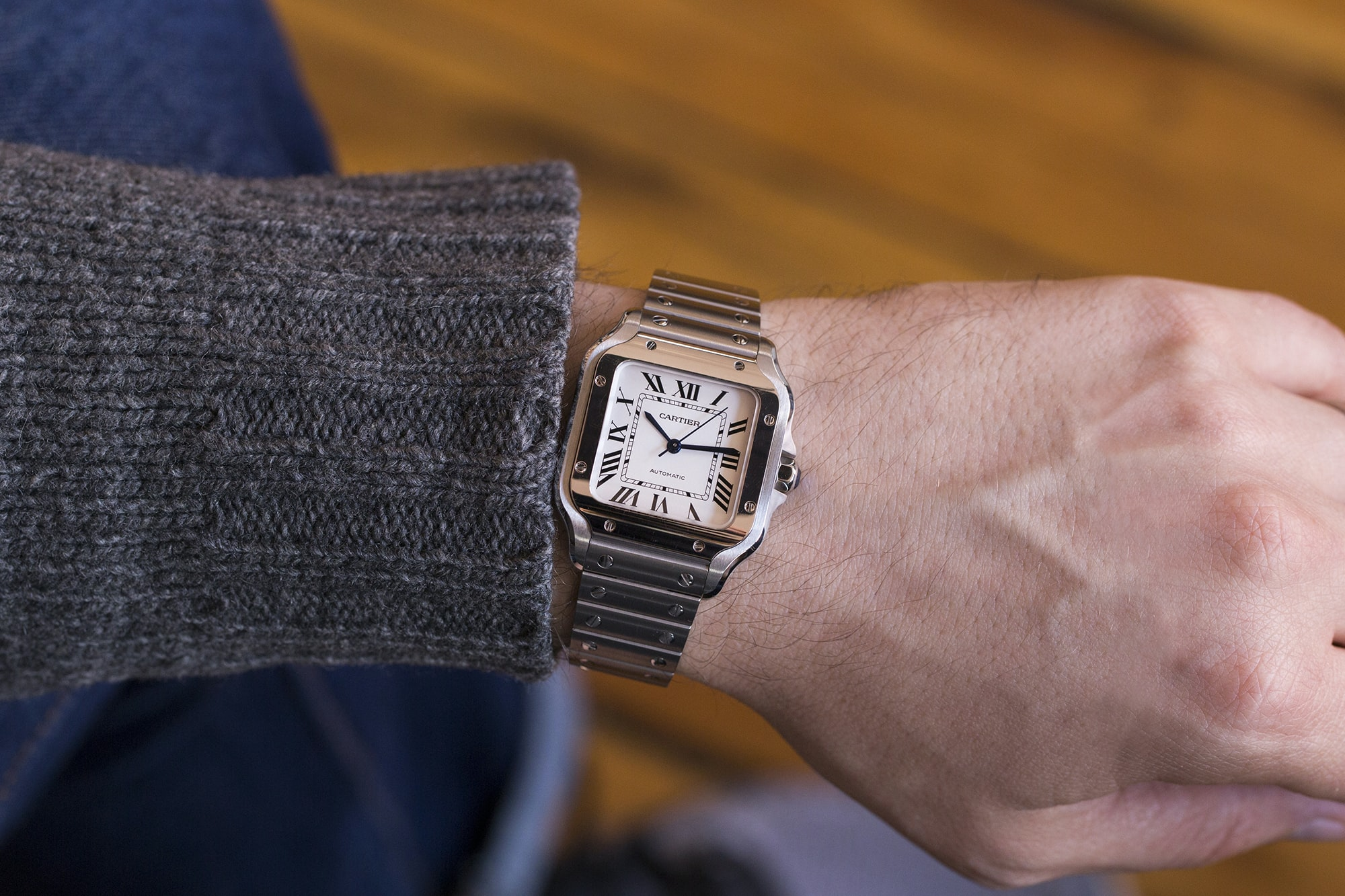 A Week On The Wrist: The Cartier Santos B89A0078 copy