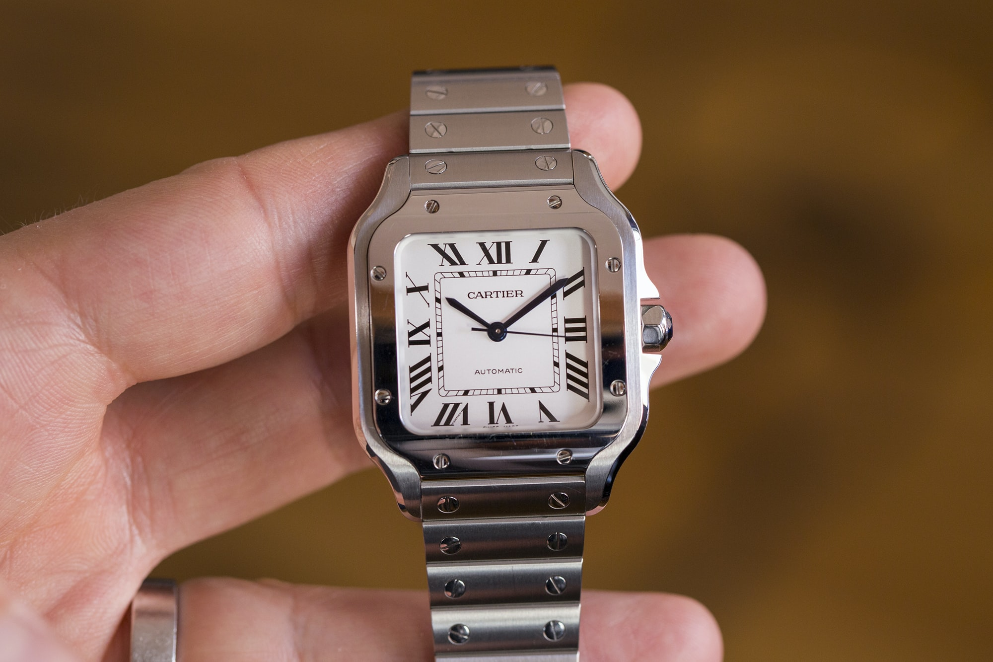 A Week On The Wrist: The Cartier Santos B89A0084 copy