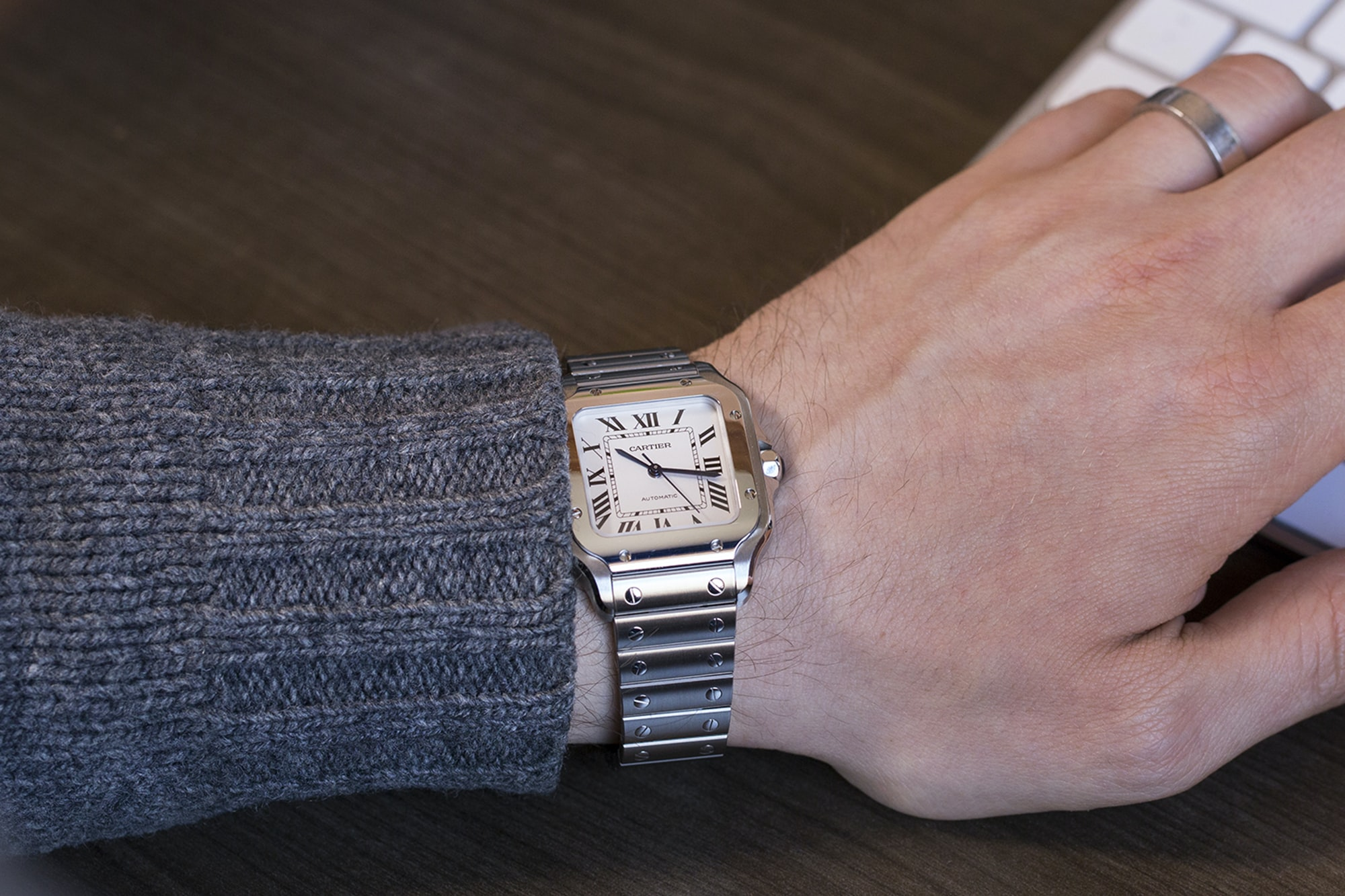 A Week On The Wrist: The Cartier Santos B89A0064 copy