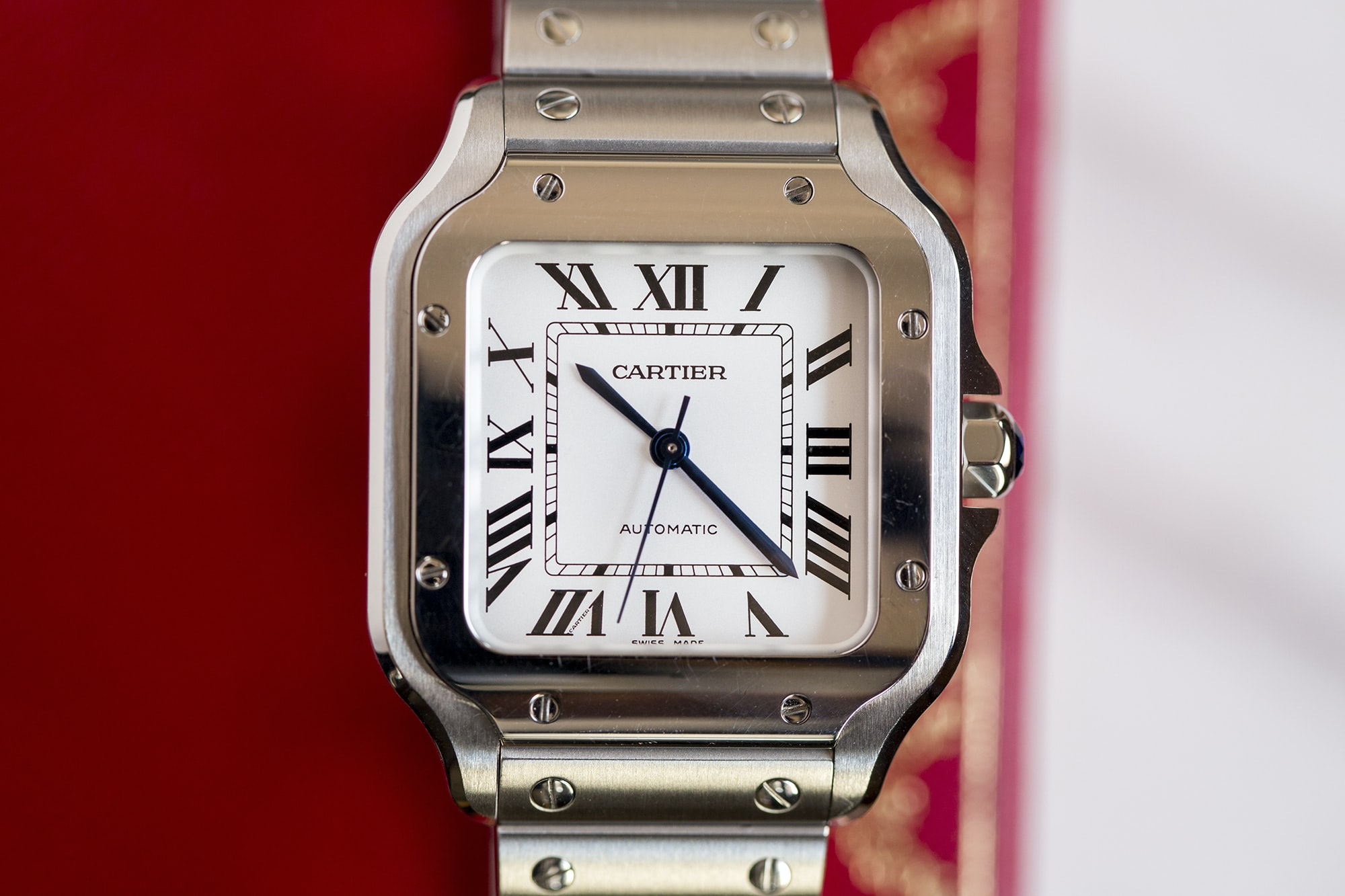 A Week On The Wrist: The Cartier Santos B89A0183 copy