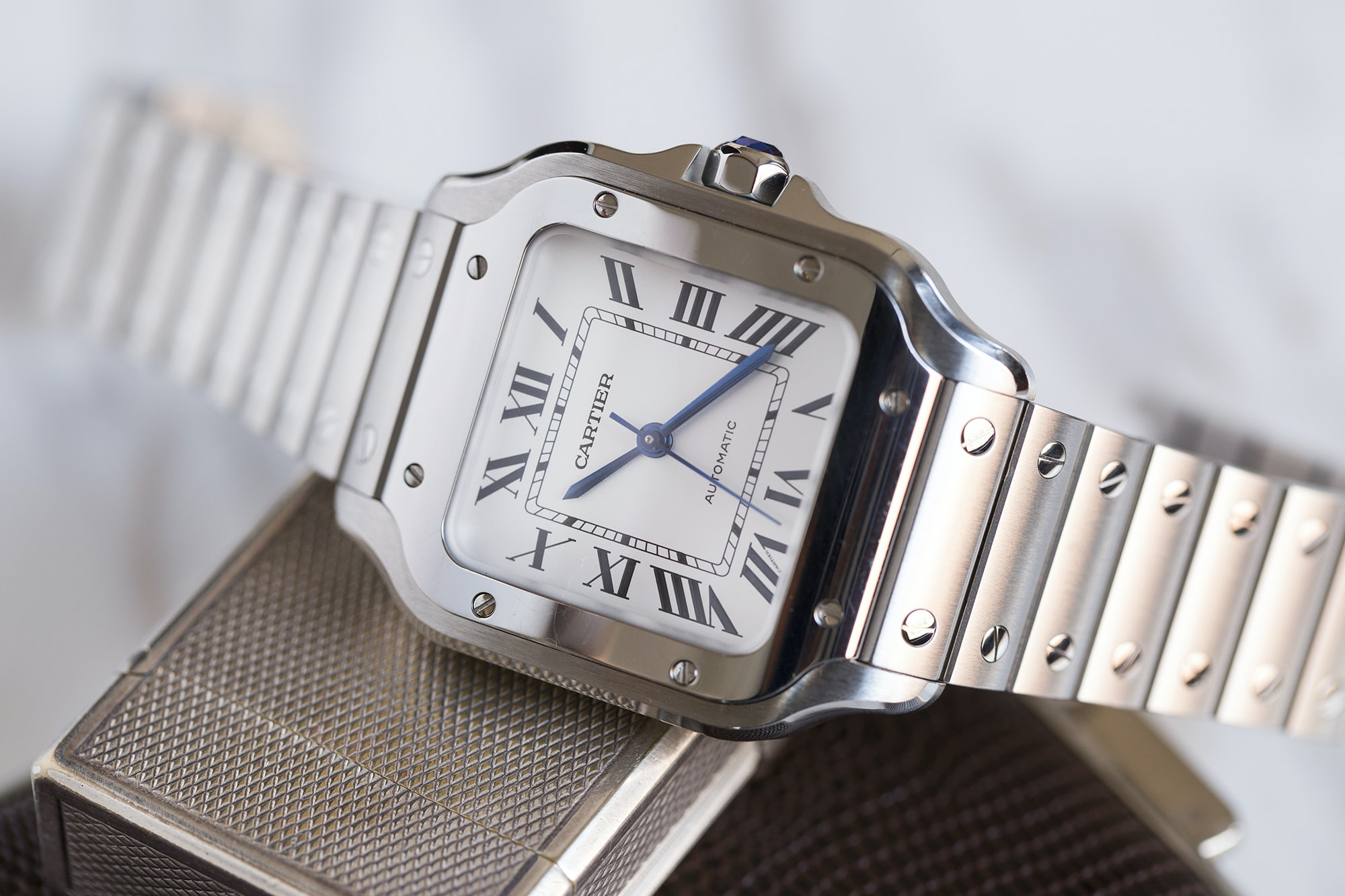 A Week On The Wrist: The Cartier Santos B89A0158 copy
