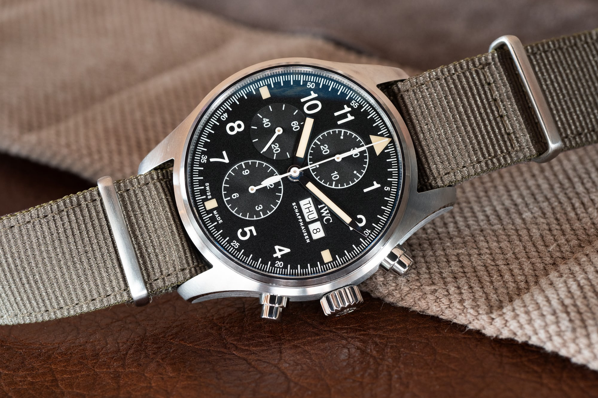 IWC Pilot's Watch Chronograph Reference IW377724 hands-on: the iwc pilot's watch chronograph ref. iw377724 Hands-On: The IWC Pilot's Watch Chronograph Ref. IW377724 P4250224