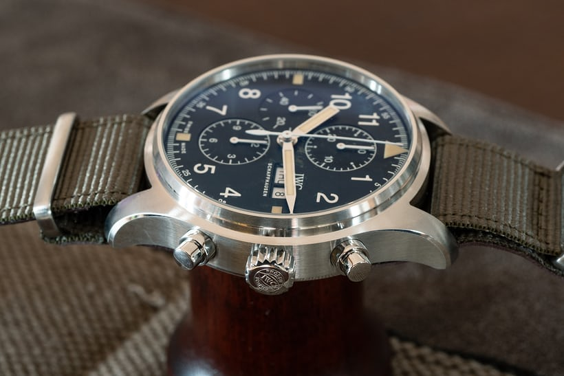 IWC Pilot's Watch Chronograph Reference IW377724 side view