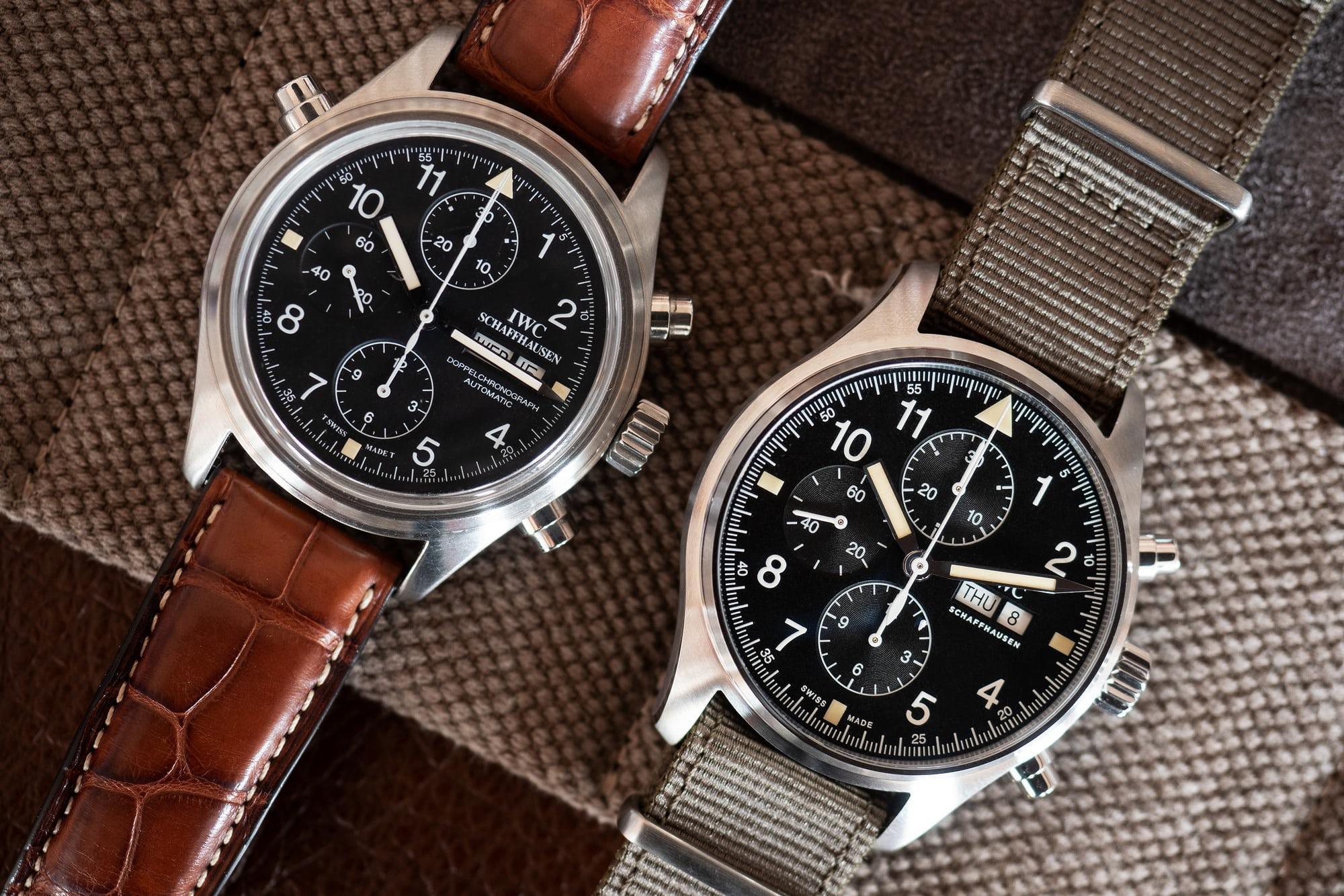 IWC Pilot's Watch Chronograph Reference IW377724 and original Doppelchronograph hands-on: the iwc pilot's watch chronograph ref. iw377724 Hands-On: The IWC Pilot's Watch Chronograph Ref. IW377724 P4250247