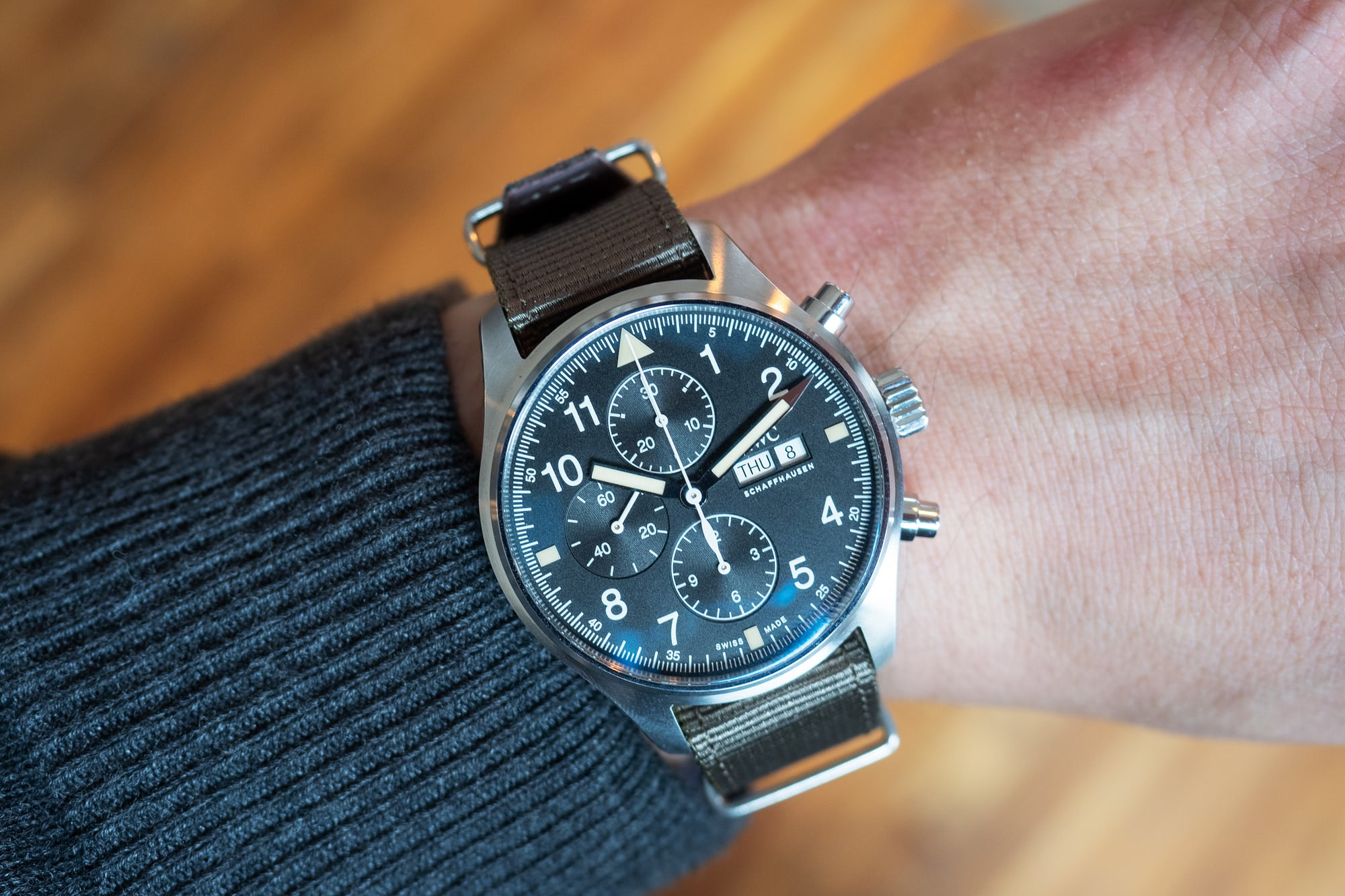 hands-on: the iwc pilot's watch chronograph ref. iw377724 Hands-On: The IWC Pilot's Watch Chronograph Ref. IW377724 P4250239