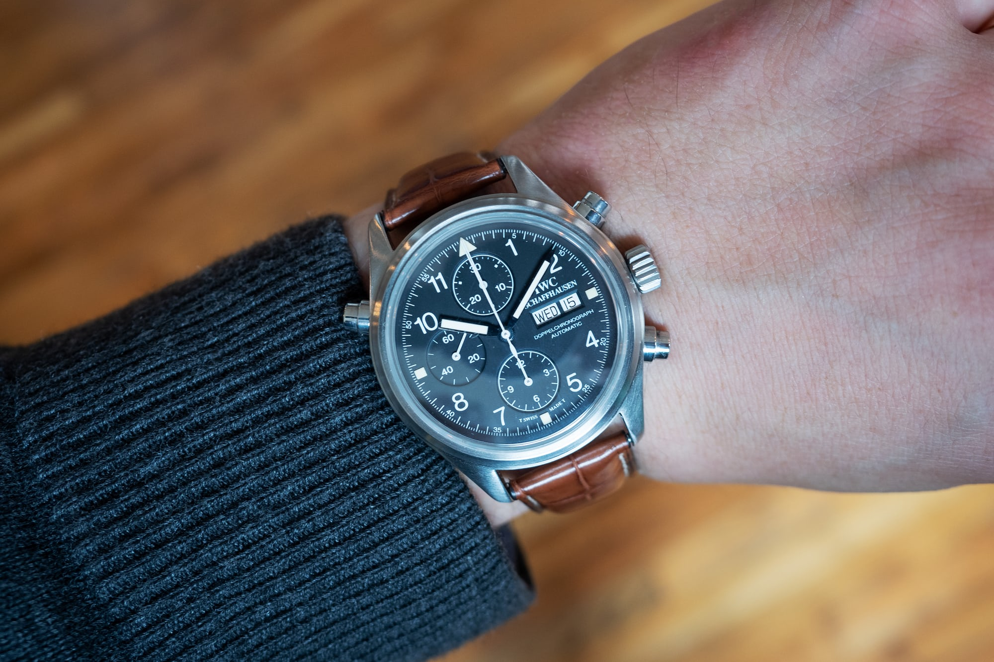 hands-on: the iwc pilot's watch chronograph ref. iw377724 Hands-On: The IWC Pilot's Watch Chronograph Ref. IW377724 P4250241