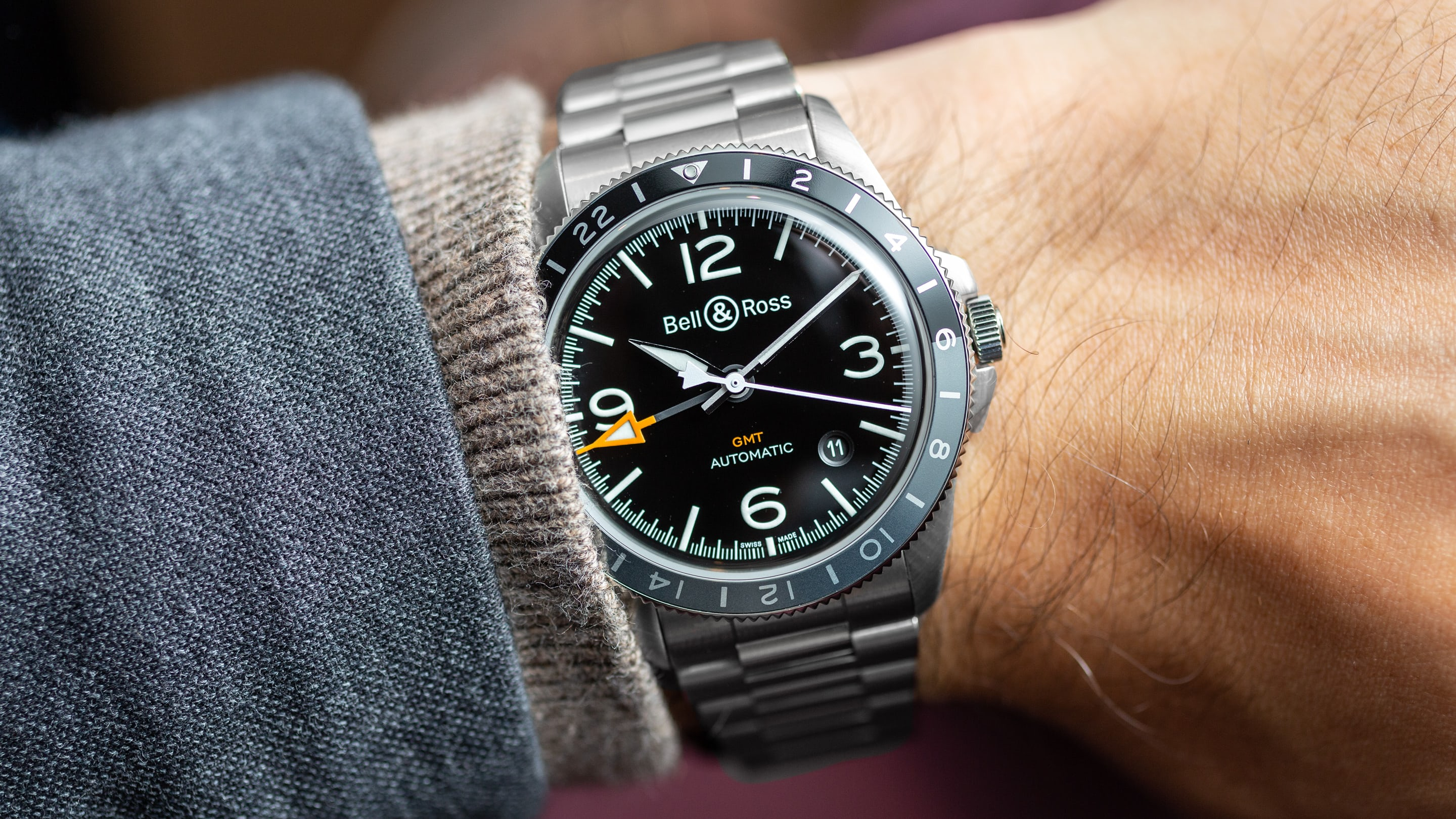 3b0a03bc6a2 Hands-On  The Bell   Ross BR V2-93 GMT - HODINKEE