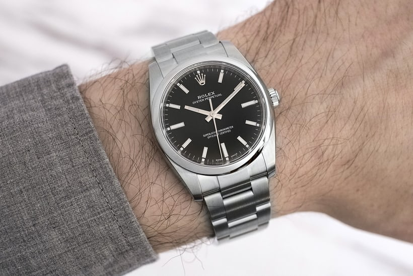 4567f2689ac0 Let s start with the Oyster Perpetual 34. Black is inarguably the classic  color for a Rolex dial and it s great to see it come to the OP.