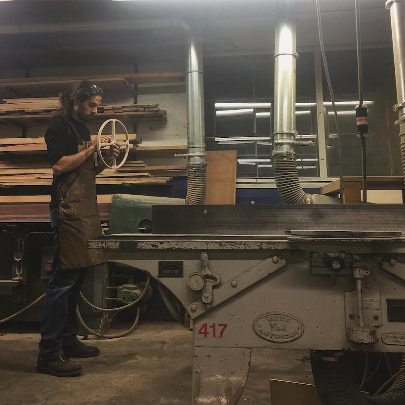 Rick Hale in his workshop