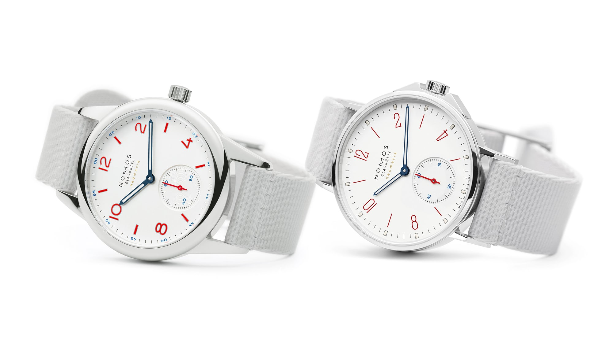 Introducing: Two New 'Siren White' Dial Additions To The NOMOS Aqua Series Nomos white aqua hero