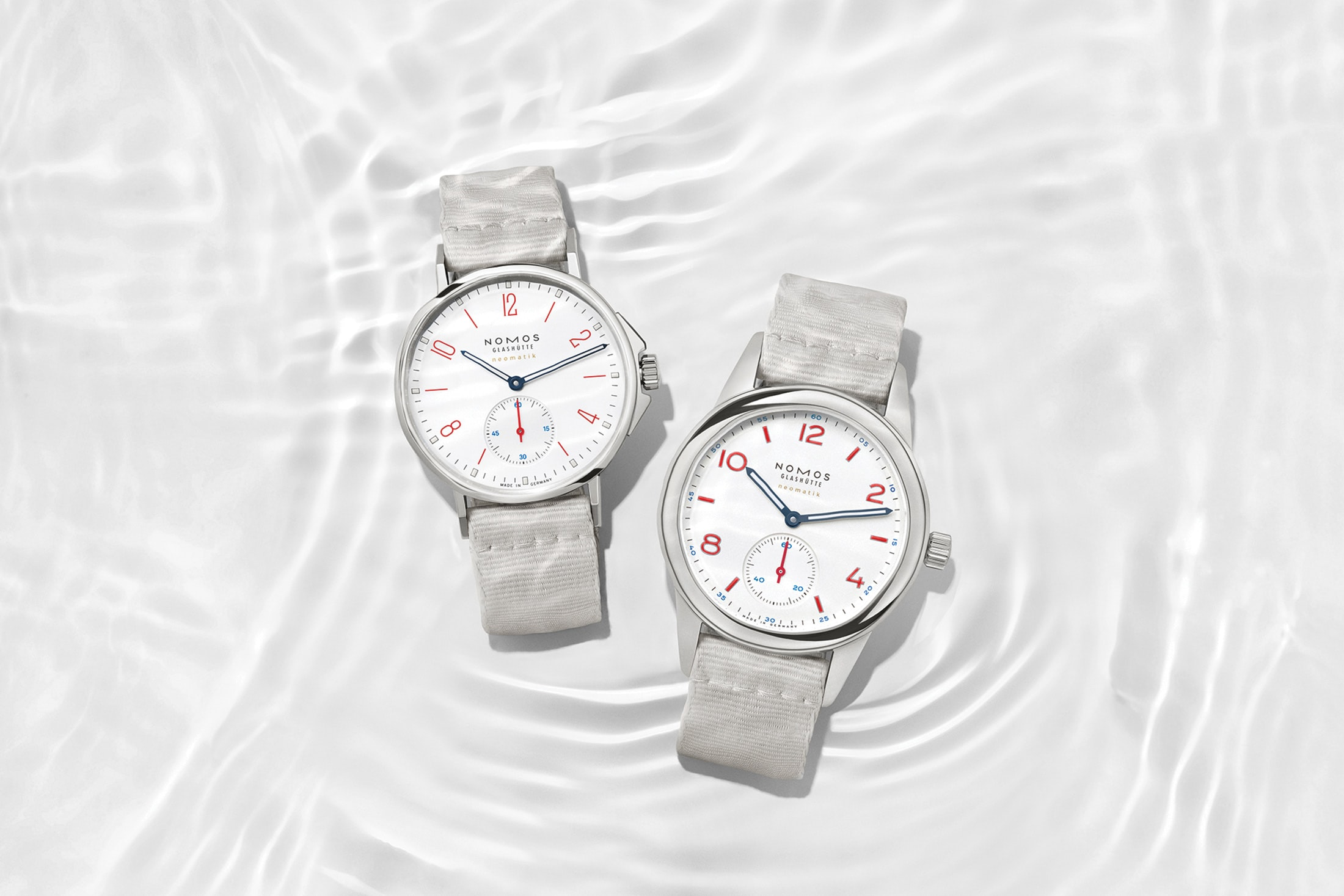 Introducing: Two New 'Siren White' Dial Additions To The NOMOS Aqua Series Nomos white aqua 6